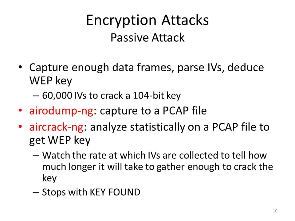 Encryption Attacks Passive Attack
