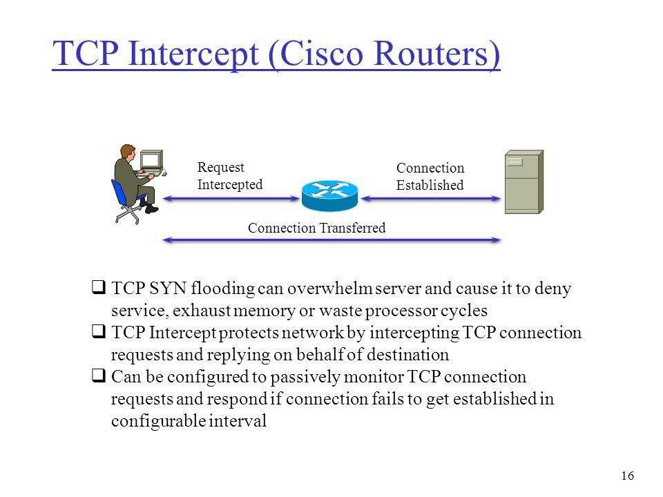 TCP Intercept (Cisco Routers)
