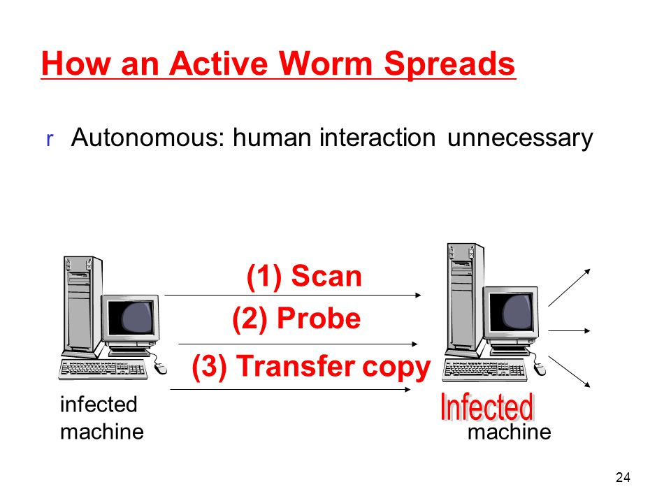 How an Active Worm Spreads