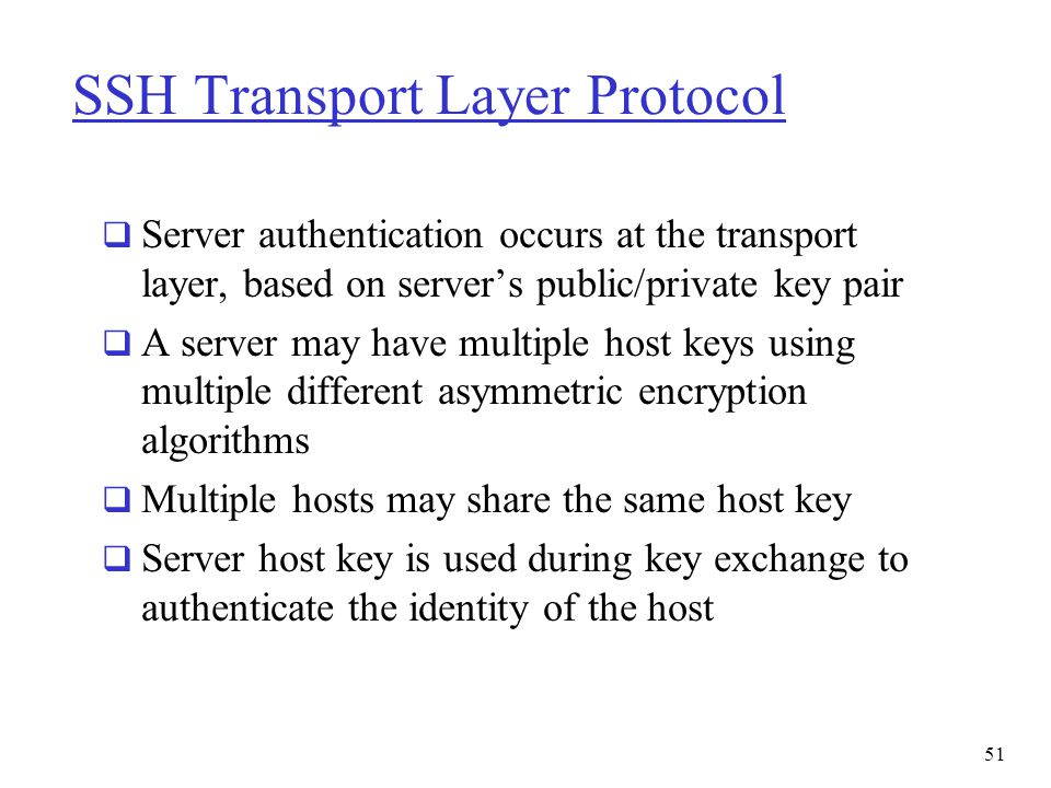 SSH Transport Layer Protocol