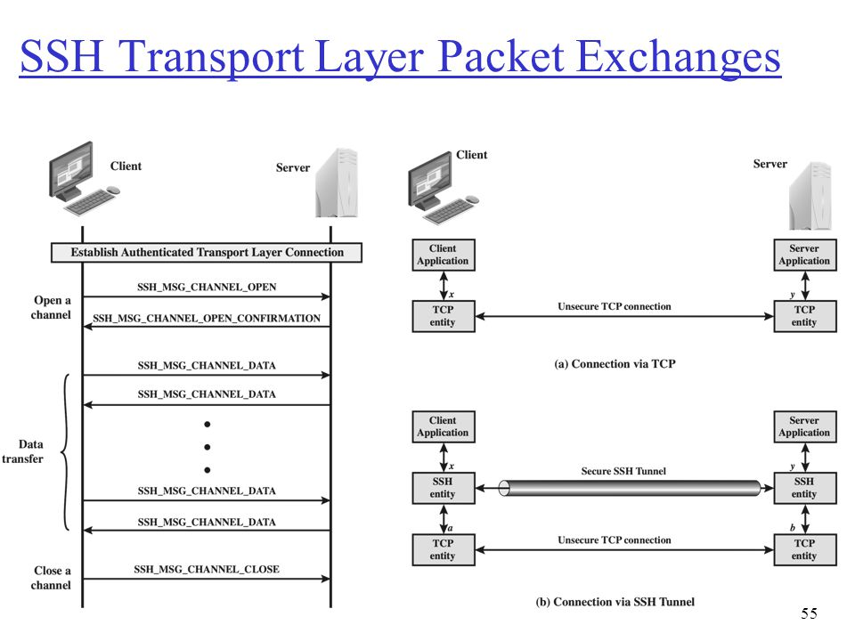 SSH Transport Layer Packet Exchanges