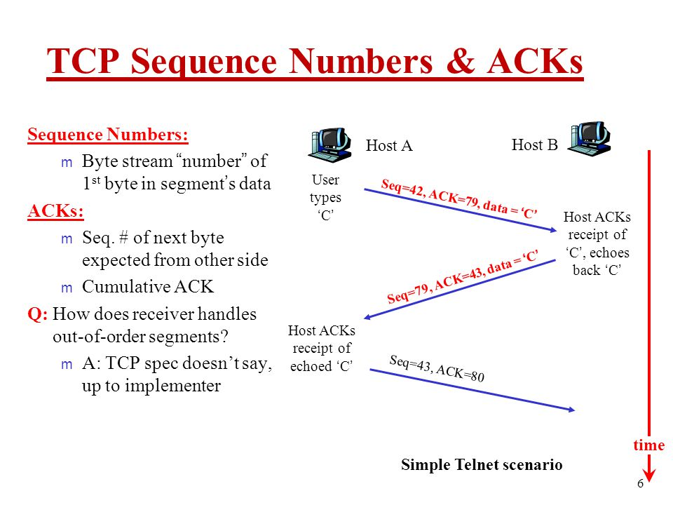 TCP Sequence Numbers & ACKs