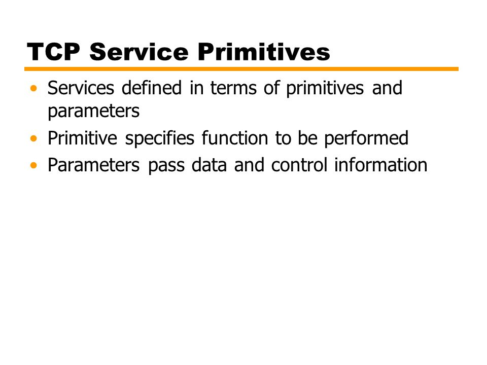 TCP Service Primitives