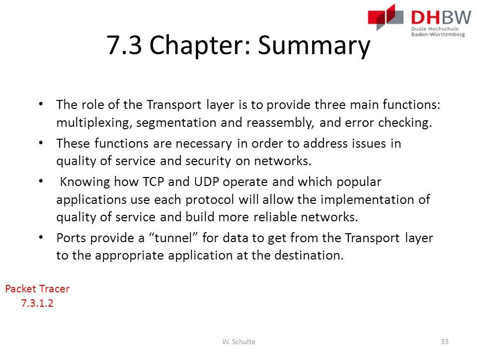 7.3 Chapter: Summary