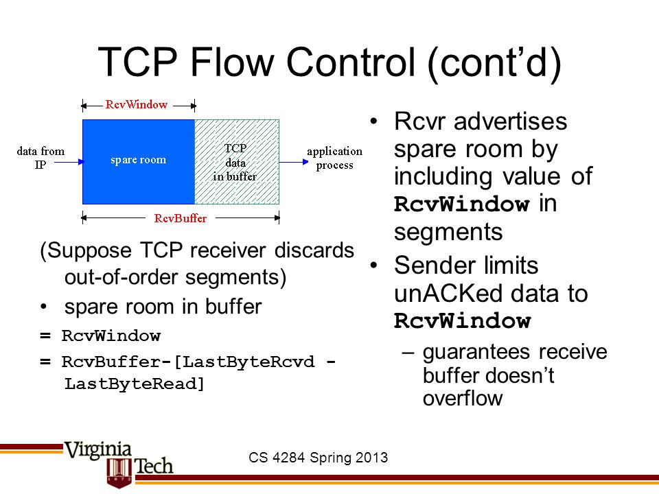 TCP Flow Control (cont'd)