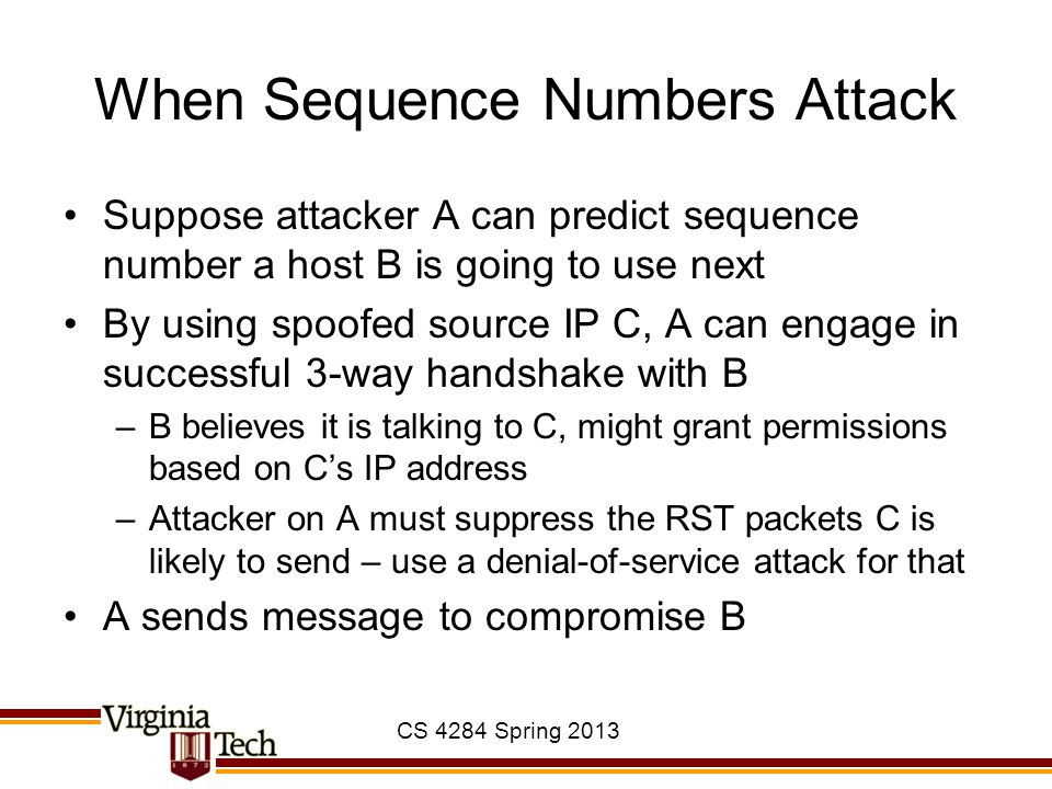 When Sequence Numbers Attack