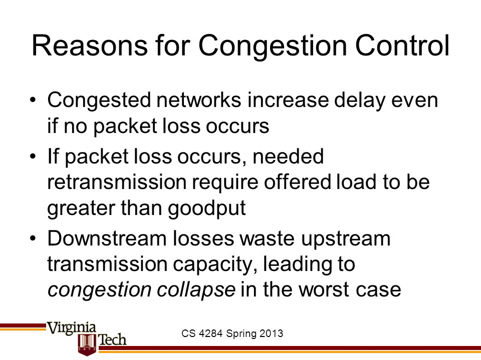 Reasons for Congestion Control