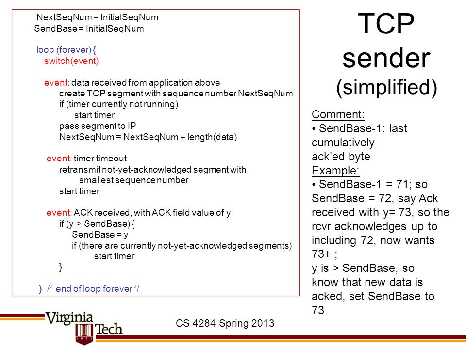 TCP sender (simplified)