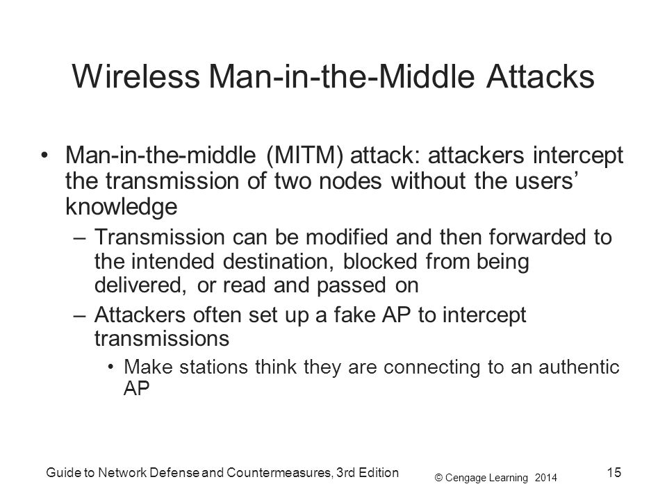 Wireless Man-in-the-Middle Attacks