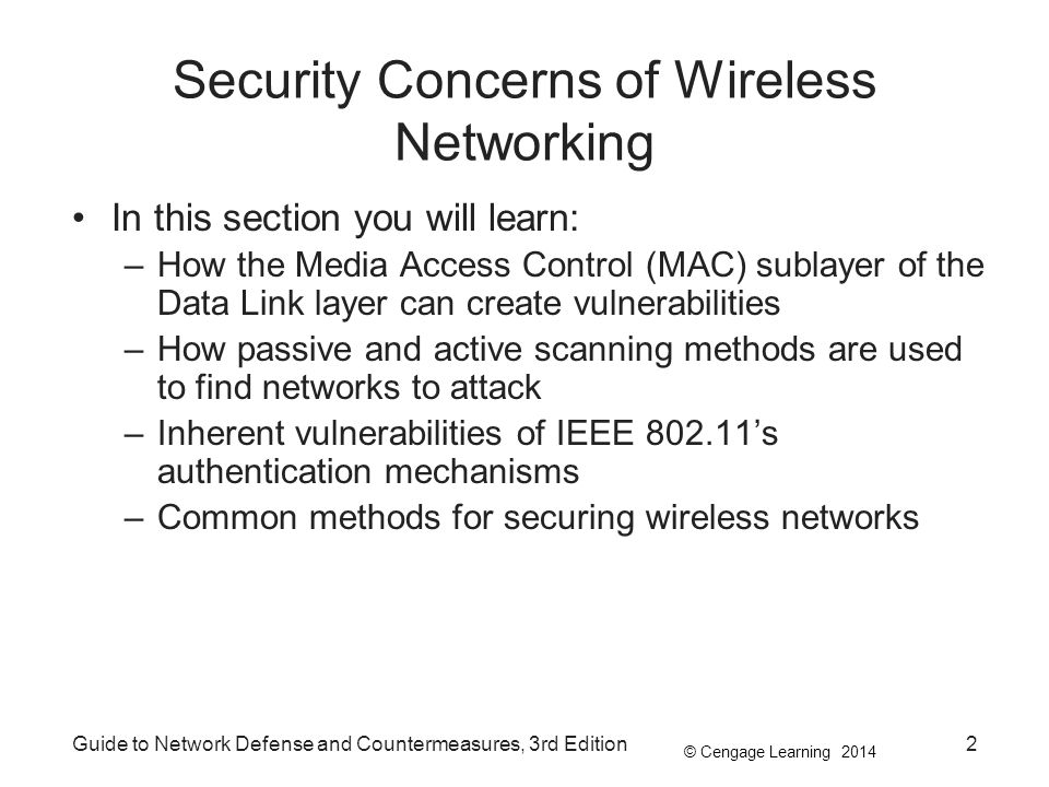 Security Concerns of Wireless Networking