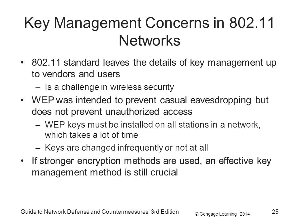 Key Management Concerns in 802.11 Networks