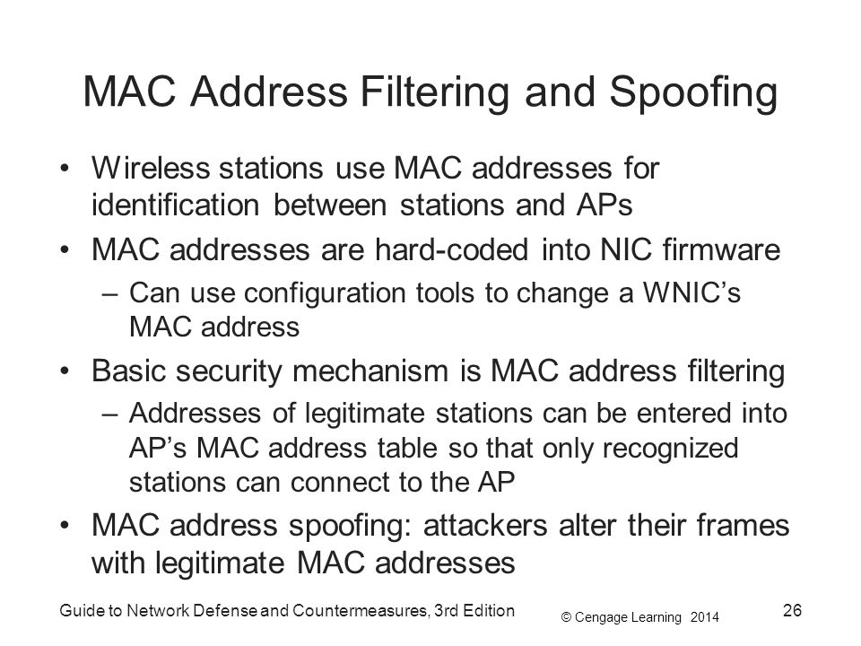 MAC Address Filtering and Spoofing