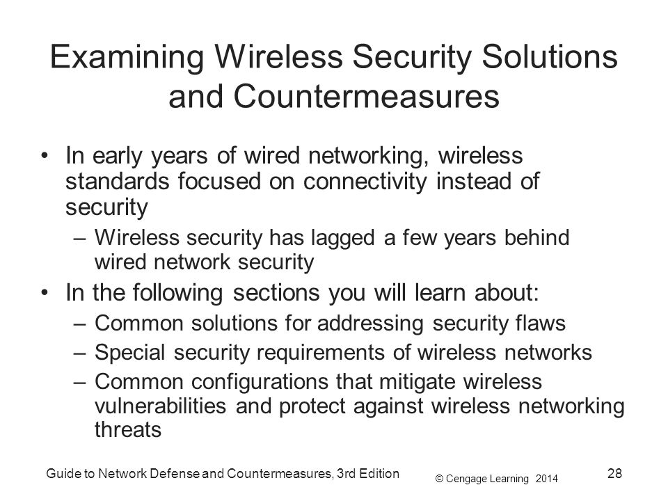 Examining Wireless Security Solutions and Countermeasures