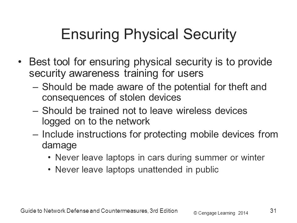 Ensuring Physical Security