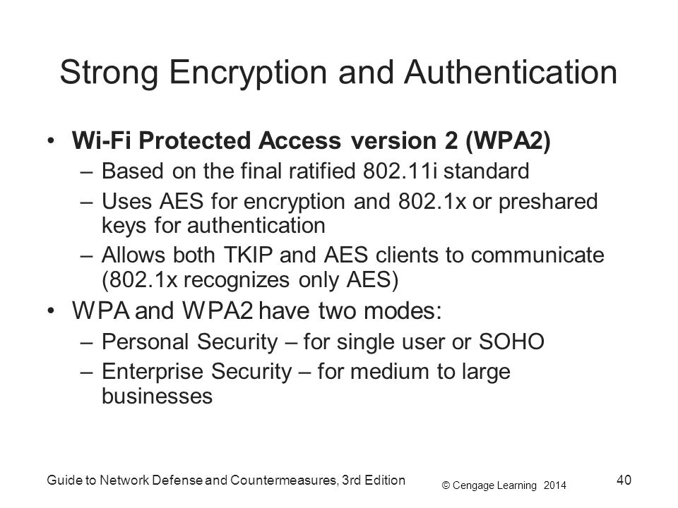 Strong Encryption and Authentication