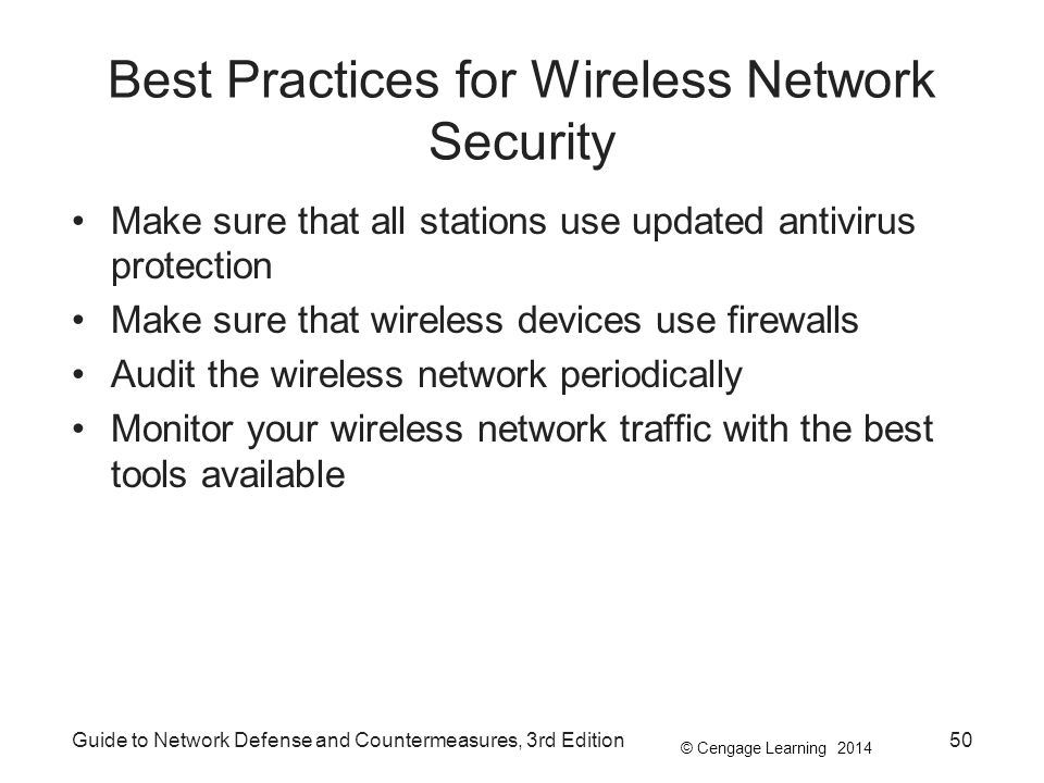 Best Practices for Wireless Network Security