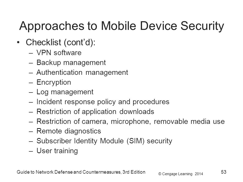 Approaches to Mobile Device Security