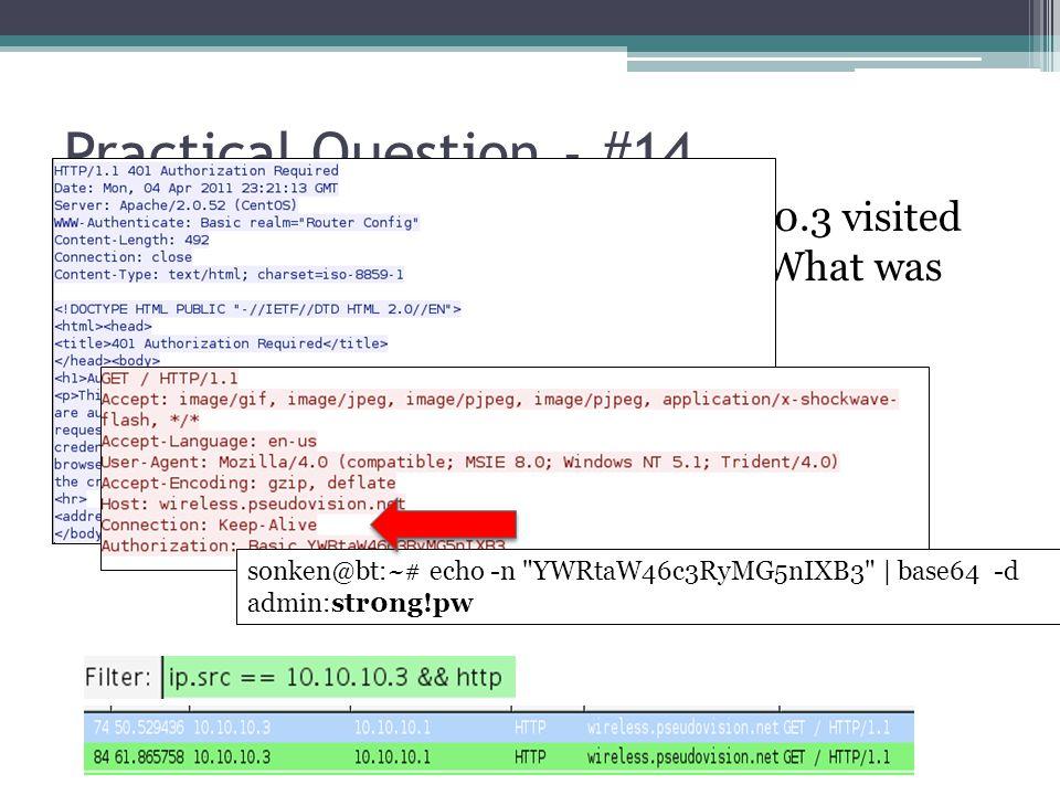 Practical Question - #14