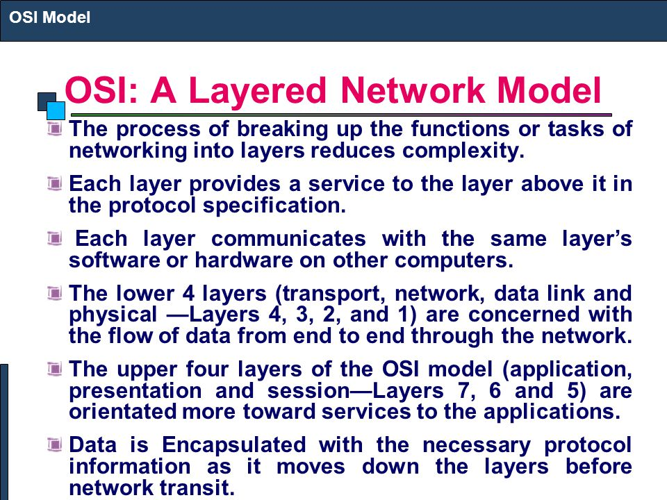 OSI: A Layered Network Model