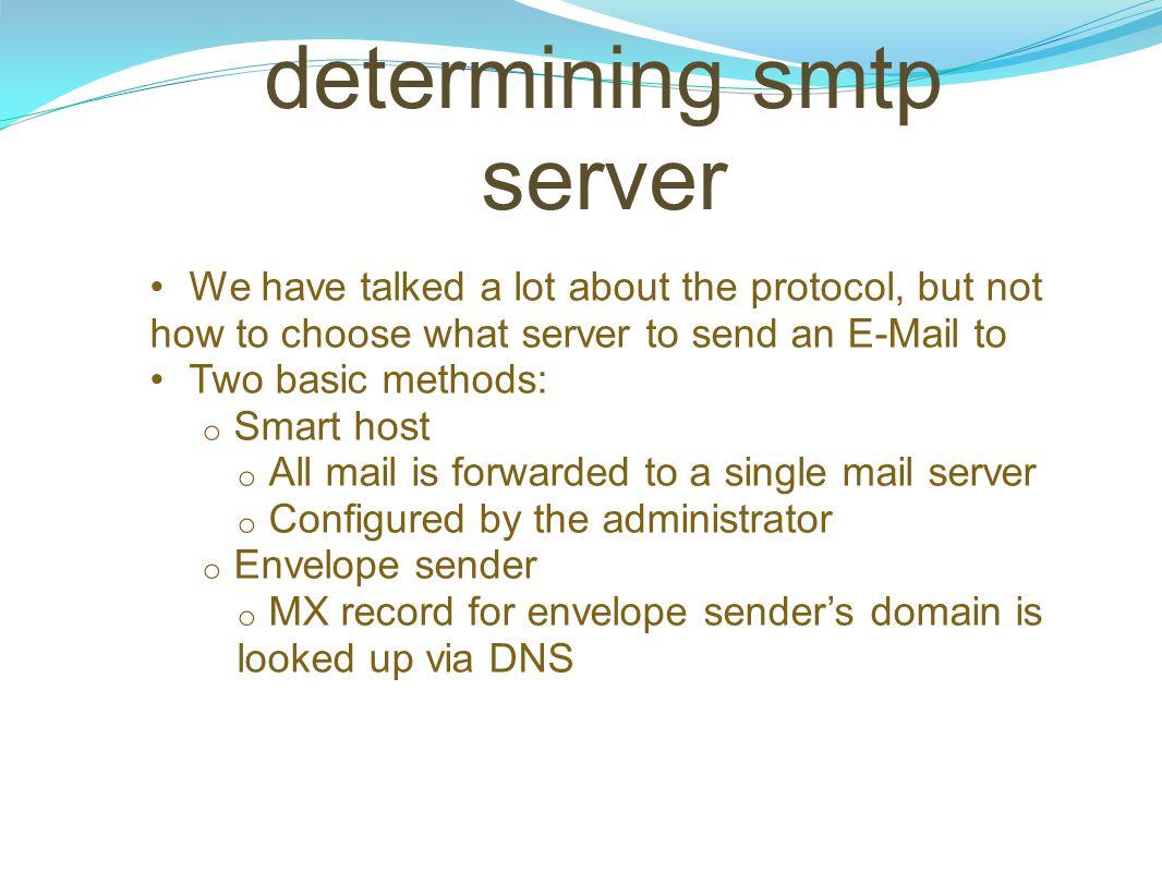 determining smtp server