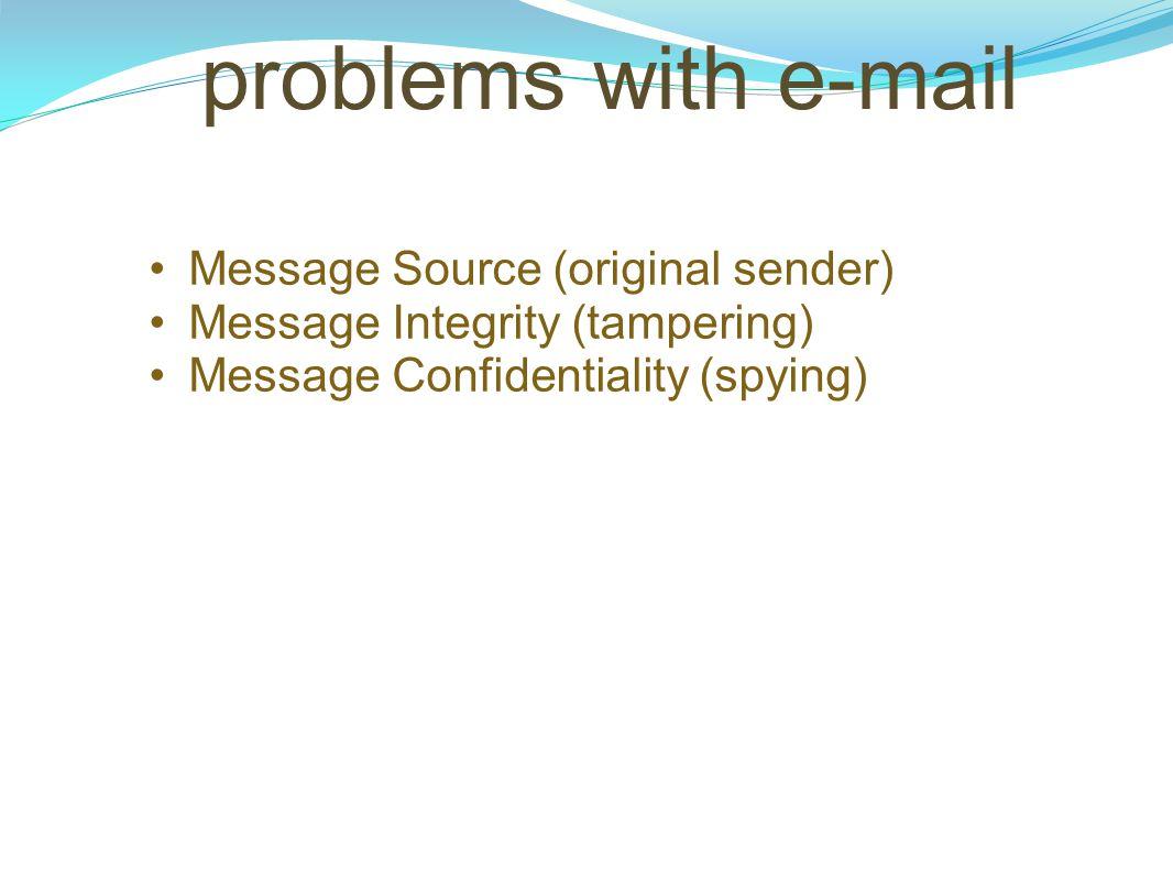 problems with e-mail Message Source (original sender)