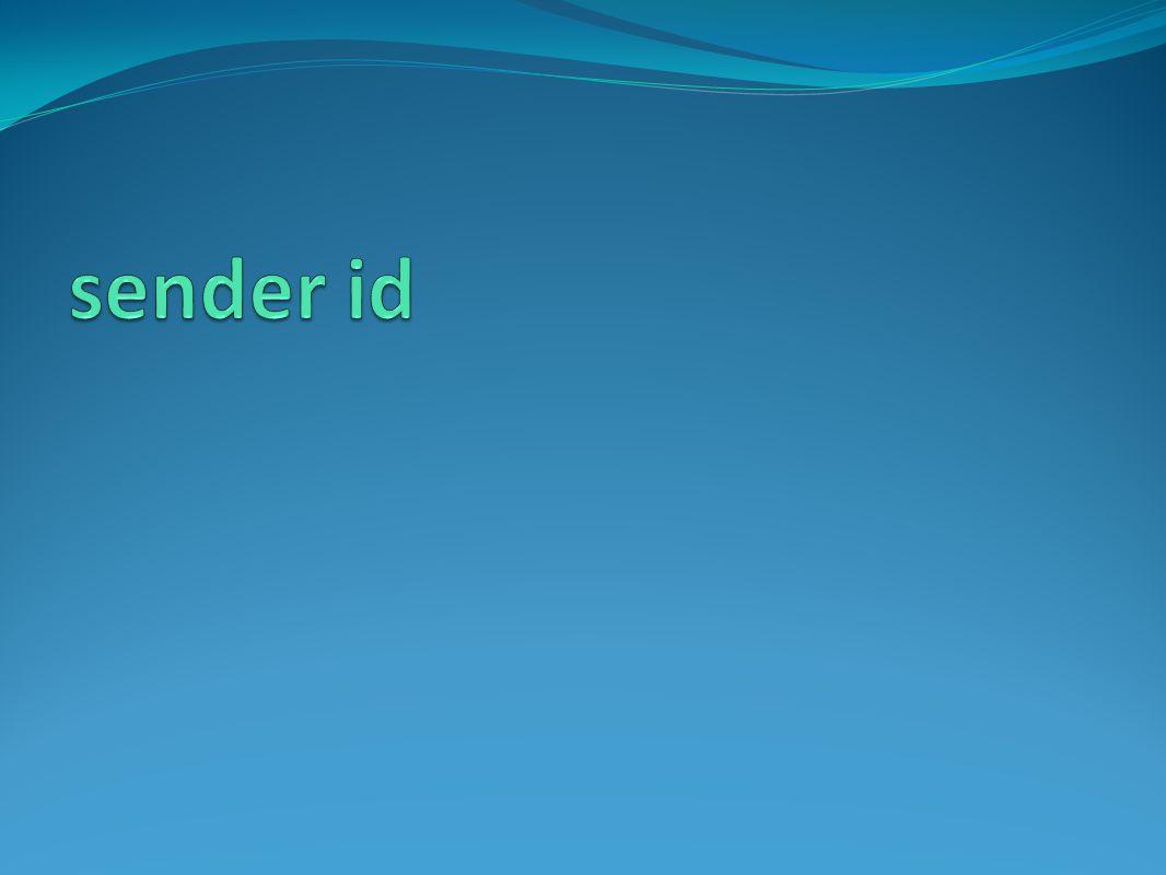 sender id