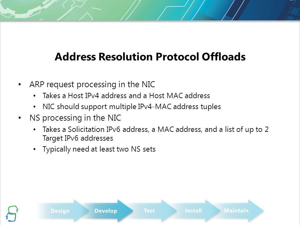 Address Resolution Protocol Offloads