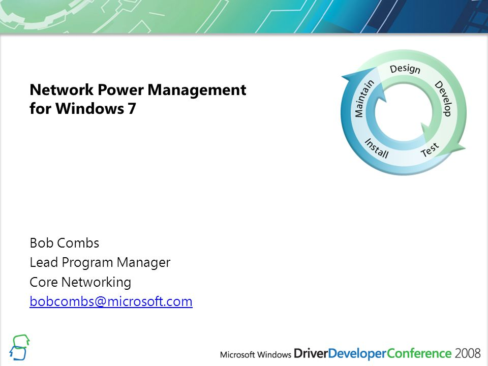 Network Power Management for Windows 7