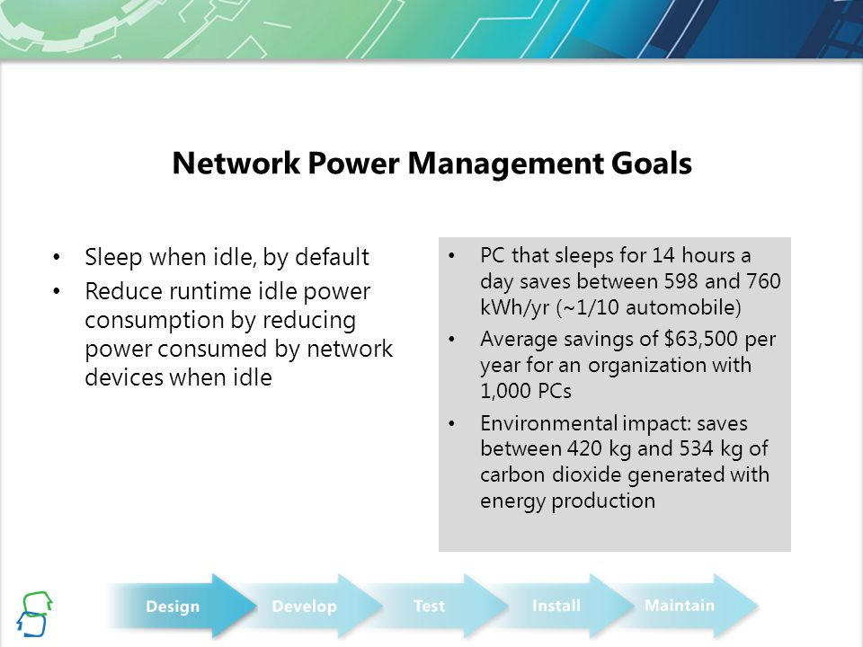 Network Power Management Goals
