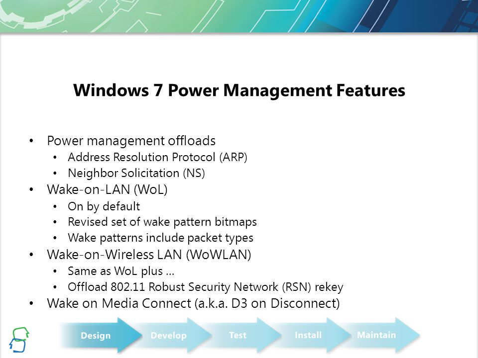 Windows 7 Power Management Features