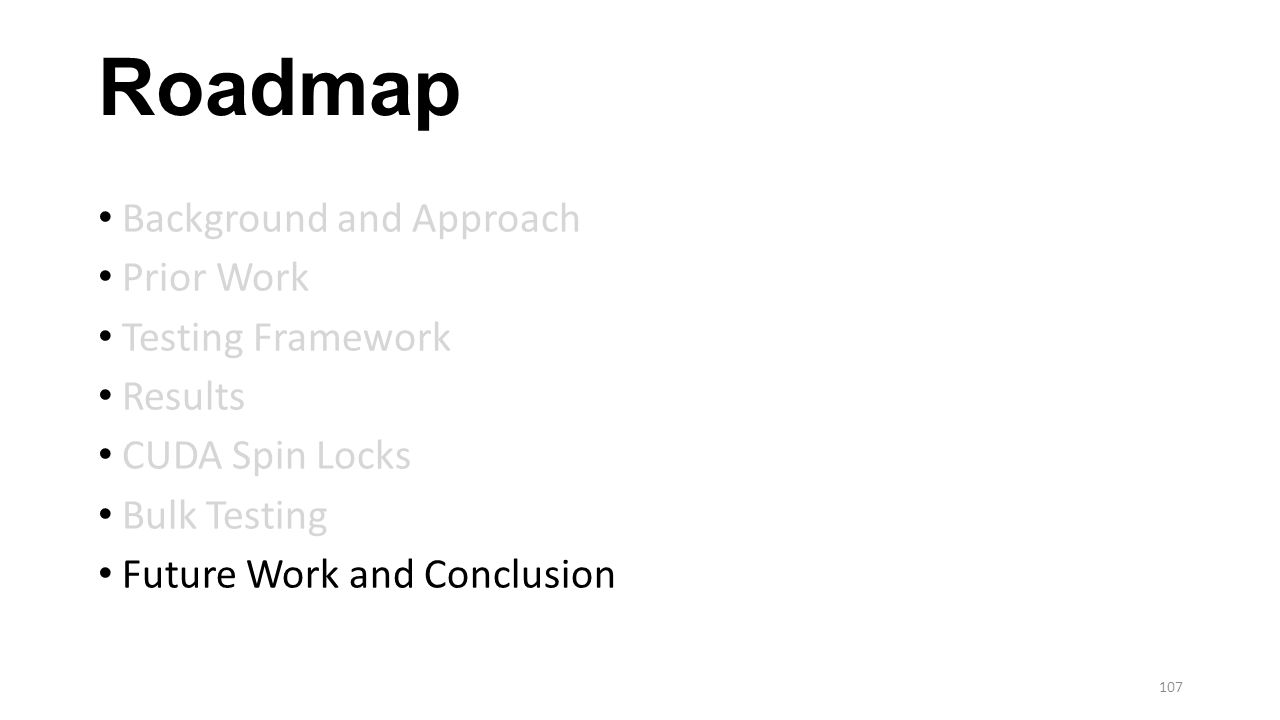 Roadmap Background and Approach Prior Work Testing Framework Results