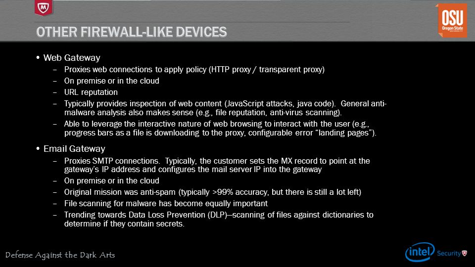 Other Firewall-like devices