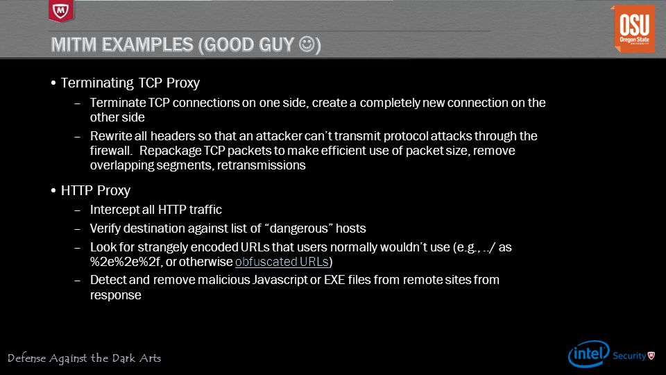 MITM Examples (Good Guy )