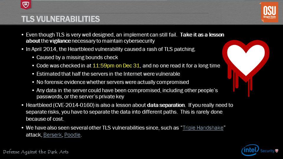 TLS Vulnerabilities