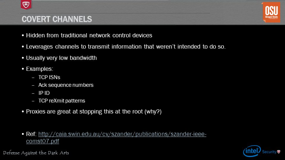 Covert Channels Hidden from traditional network control devices