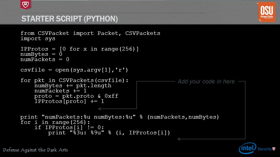 Starter Script (Python)