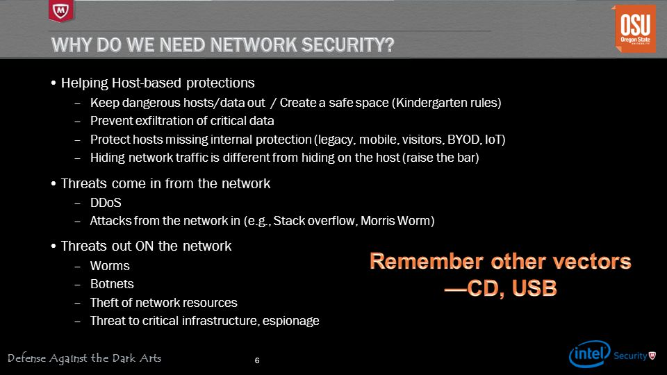 Why do we need network security