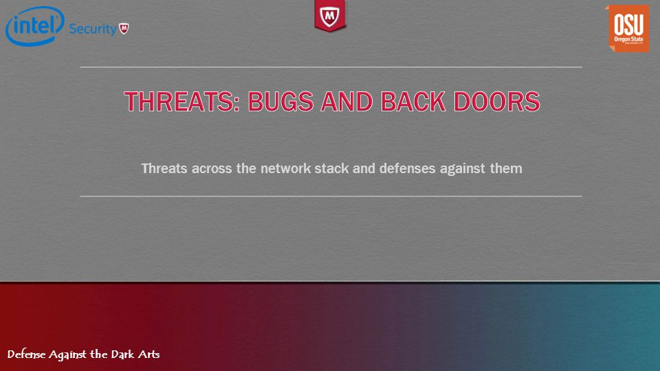 Threats: Bugs and Back Doors