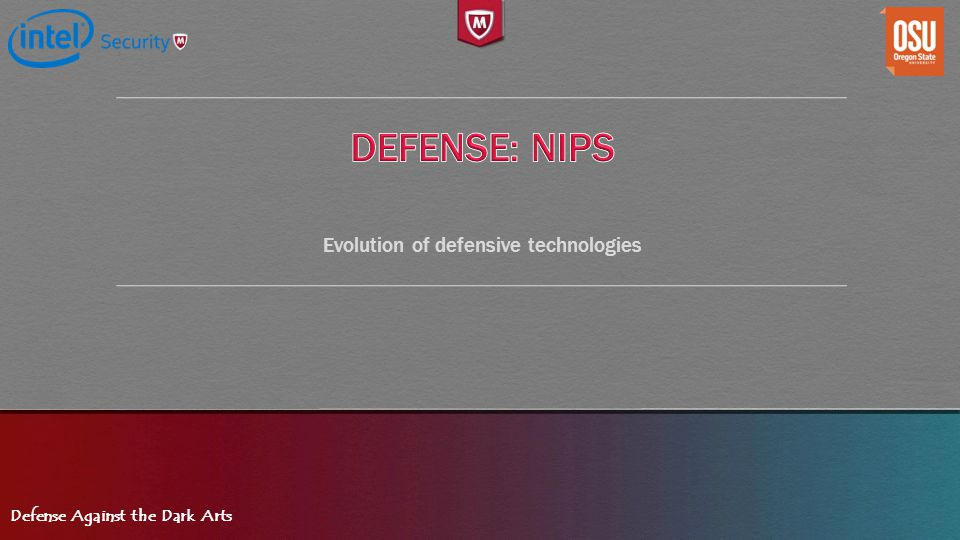 Evolution of defensive technologies