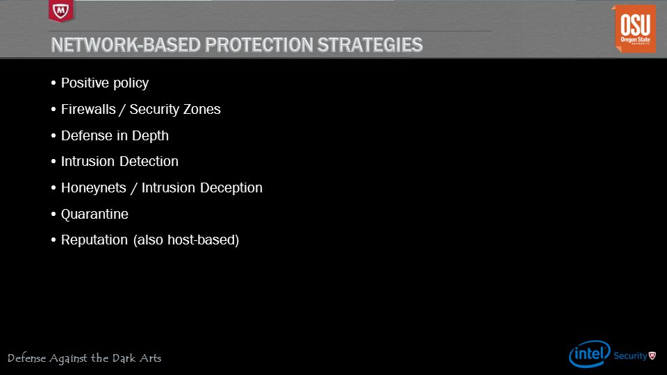 Network-based Protection Strategies