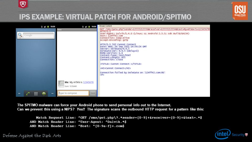 IPS Example: Virtual Patch for Android/SPITMO