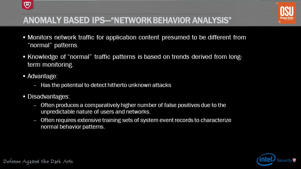 Anomaly based IPS— Network Behavior Analysis