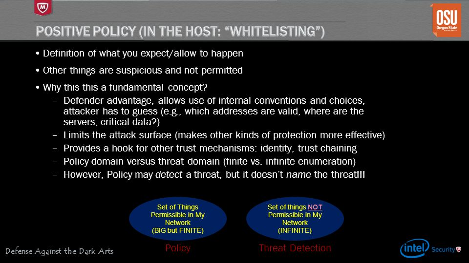 Positive Policy (in the host: Whitelisting )