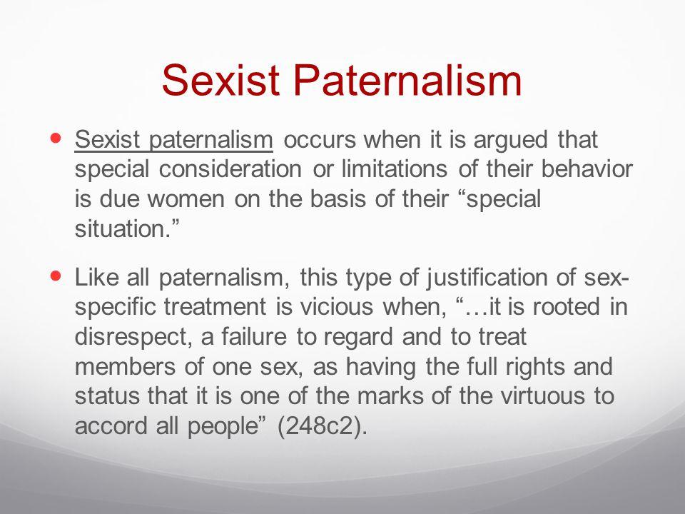 Sexist Paternalism