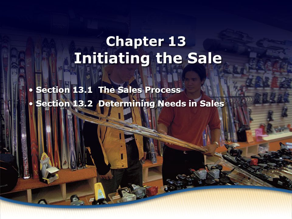 Chapter 13 Initiating the Sale