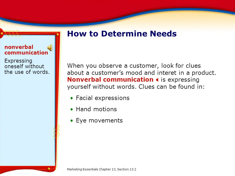 How to Determine Needs nonverbal communication. Expressing oneself without the use of words.