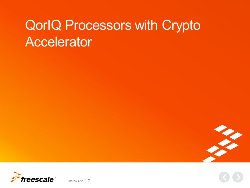 QorIQ Processors with Crypto Accelerator