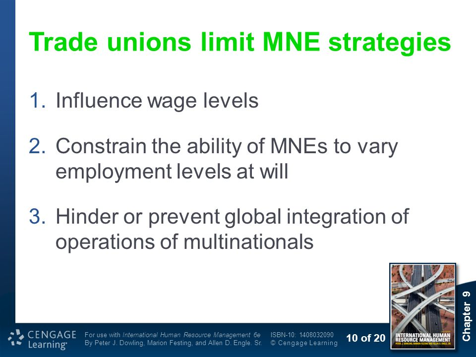 Trade unions limit MNE strategies
