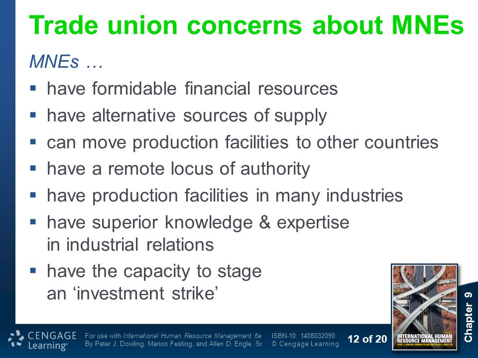 Trade union concerns about MNEs