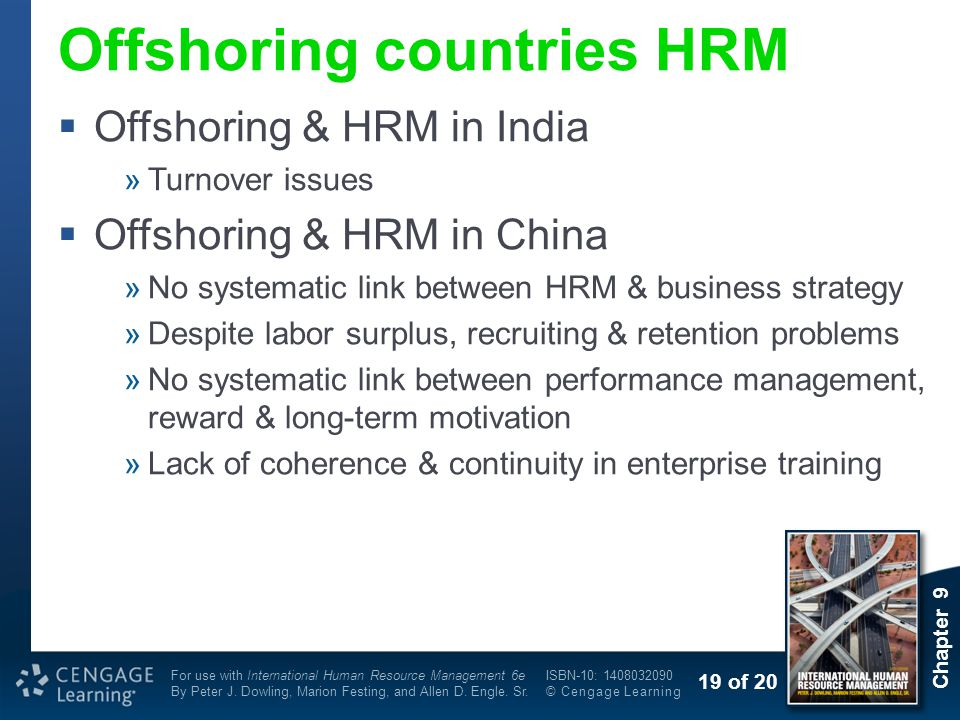 Offshoring countries HRM